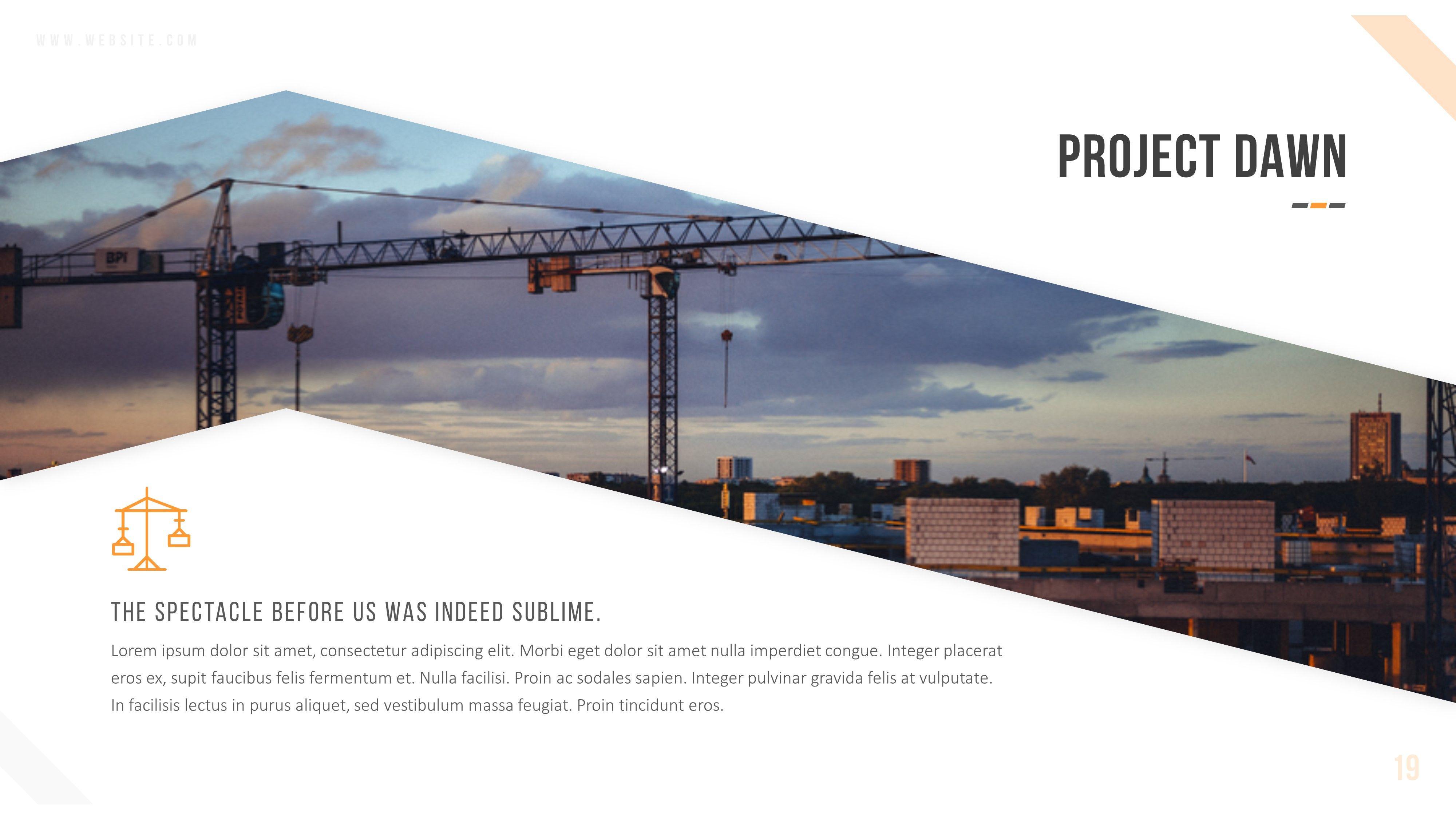 Keystone Construction Powerpoint Template Templates