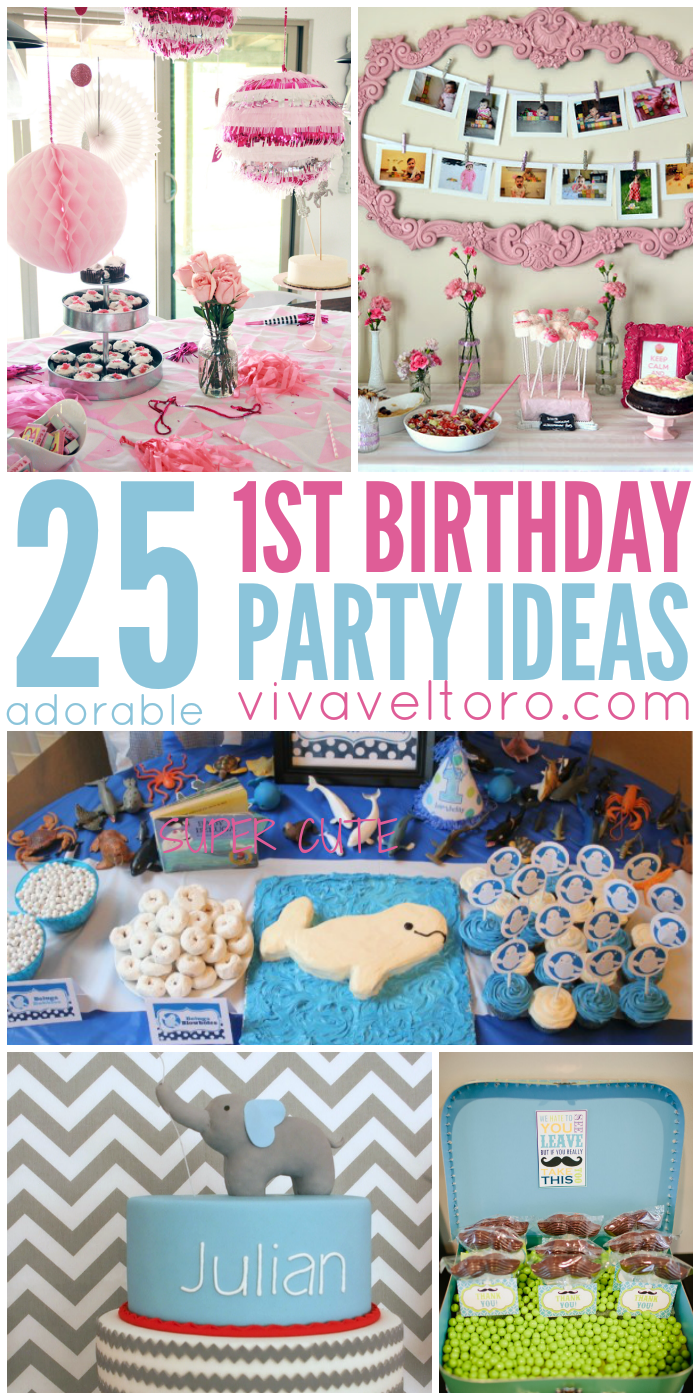 25 Adorable First Birthday Party Ideas