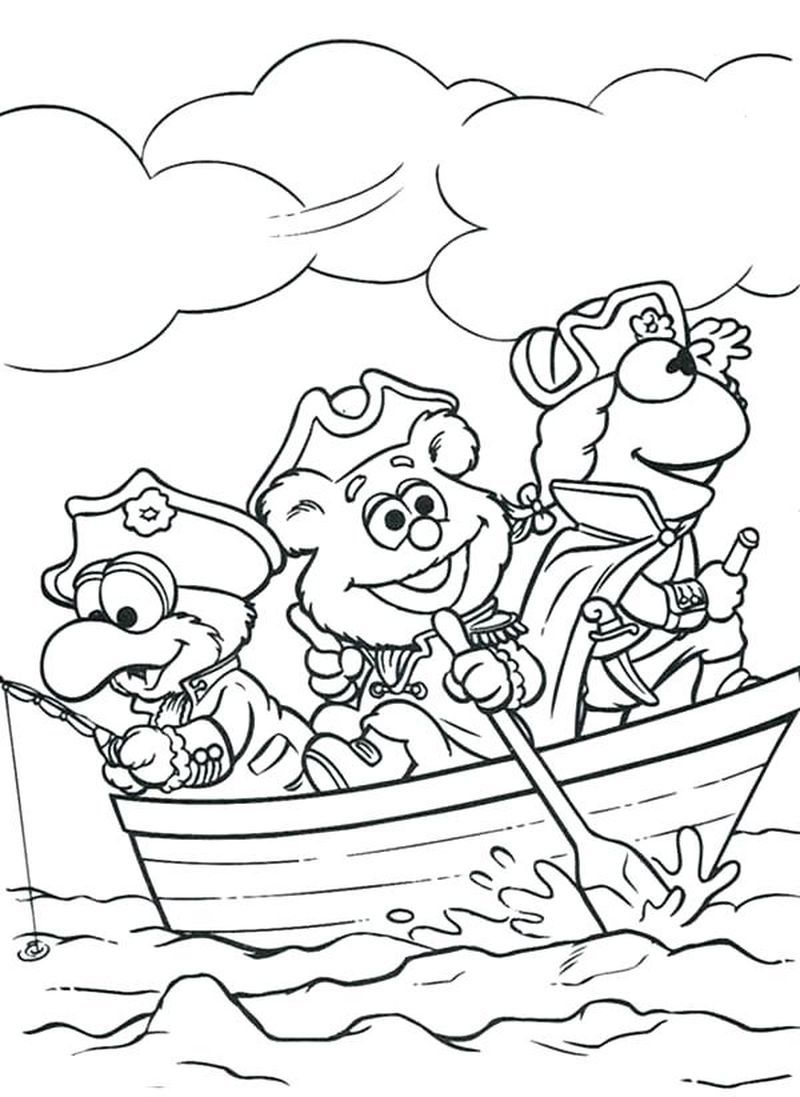 Coloring Book Babies Printable. Muppet Babies coloring