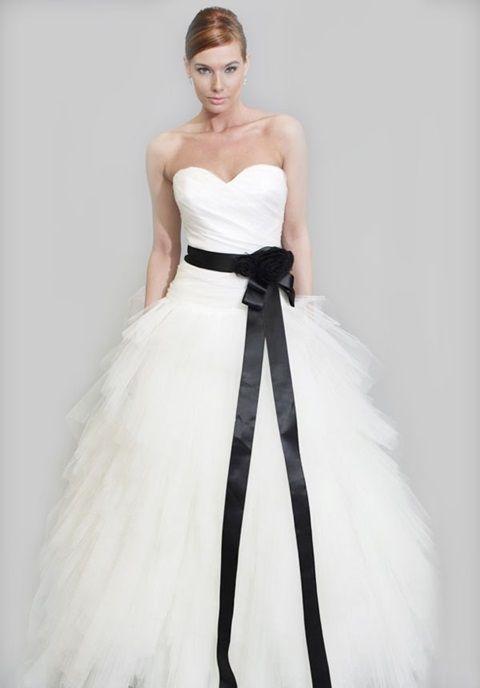 Vestidos de novia para gorditas blanco con negro