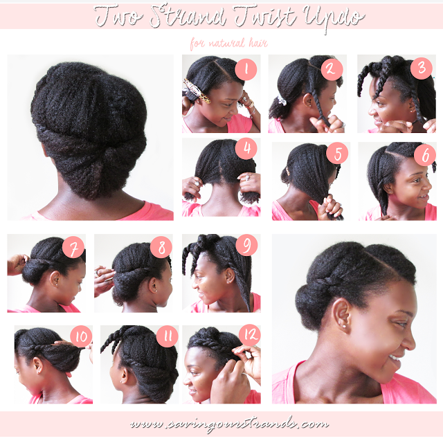 Savingourstrands Celebrating Our Natural Kinks Curls Coils Tutorial Two Strand Twist Updo For Natural Two Strand Twist Updo Natural Hair Updo Hair Styles