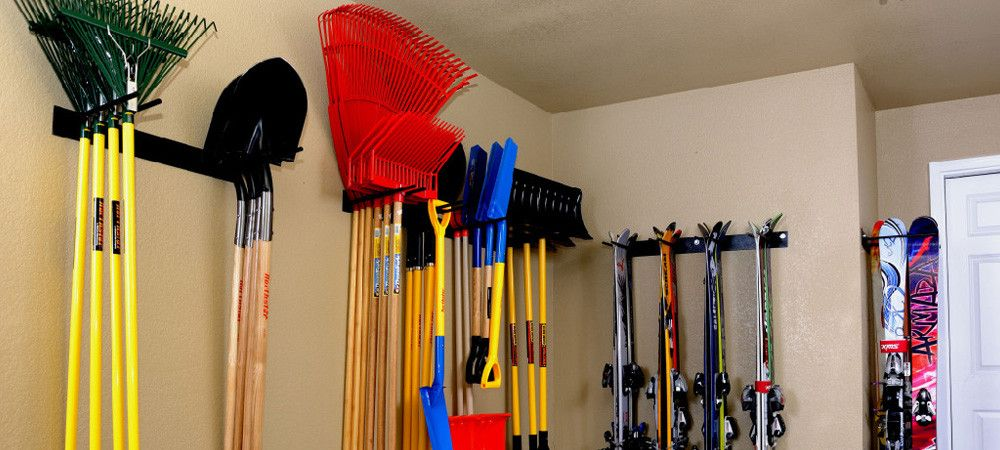 Garage Tool Racks Wall Mounted Ski Snowboard Utility