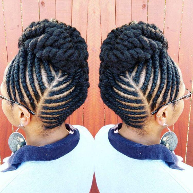 Nice Updo Artisticrootz Natural Hair Twists Flat Twist Updo