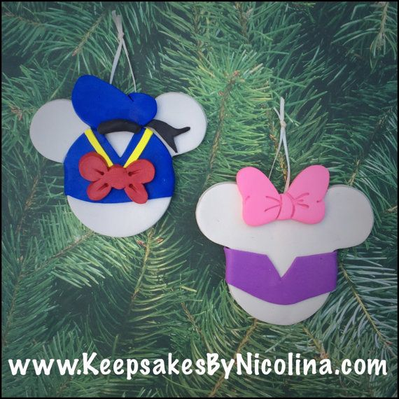 Personalized Donald Duck or Daisy Duck Christmas ornaments by,  www.KeepsakesByNicolina.com - Personalized Donald Duck Or Daisy Duck Christmas Ornaments By, Www