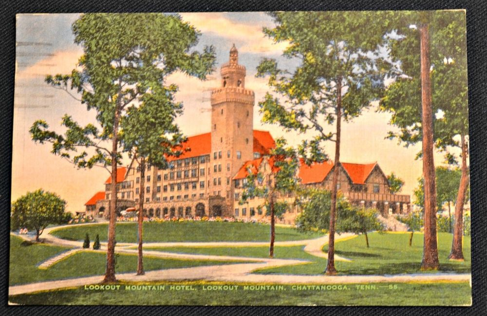 Lookout Mountain Hotel Chattanooga Tennessee Tn Vintage Postcard