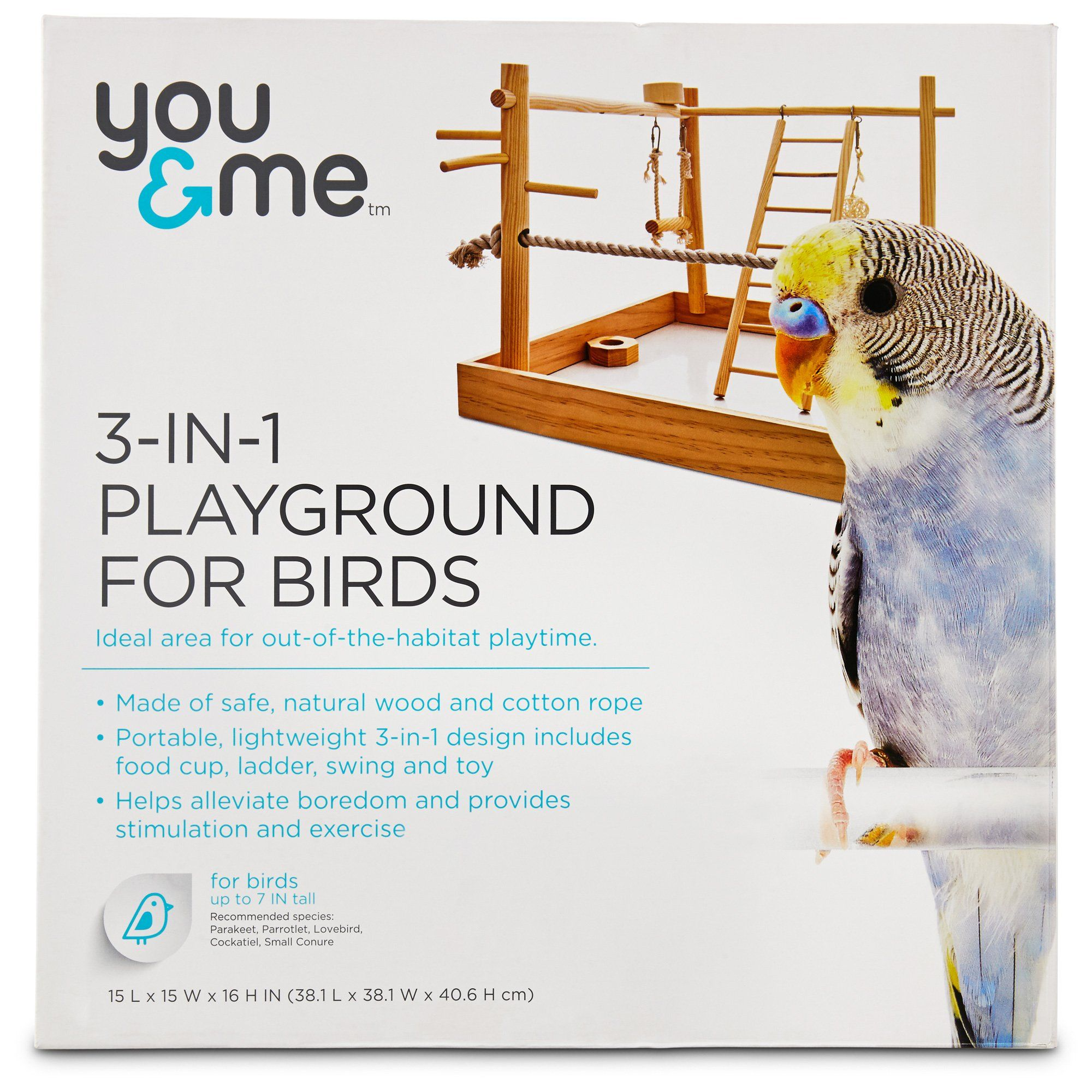 You Me 3 In 1 Playground For Birds Petco Pet Bird Cage
