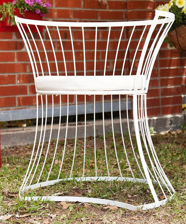Look at this White Ryland Curve Indoor/Outdoor Chair on #zulily today!