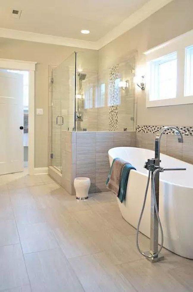 Tiled Bathroom Half Wall 43 amazing bathrooms with half walls | bath, bathroom renos and