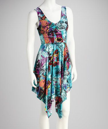 Take a look at this Purple Handkerchief Dress by All Set for Sun: Women's Apparel on @zulily today!