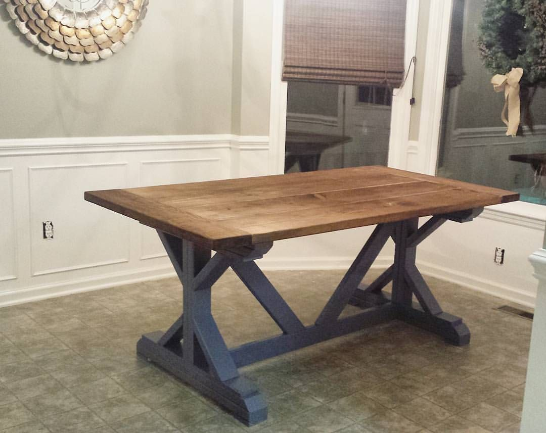 Diy farmhouse table build best made plans pinterest Narrow farmhouse table plans