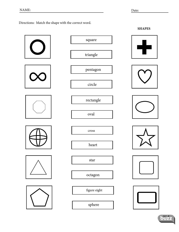 Printable Shapes Vocabulary Worksheets For Esl Efl