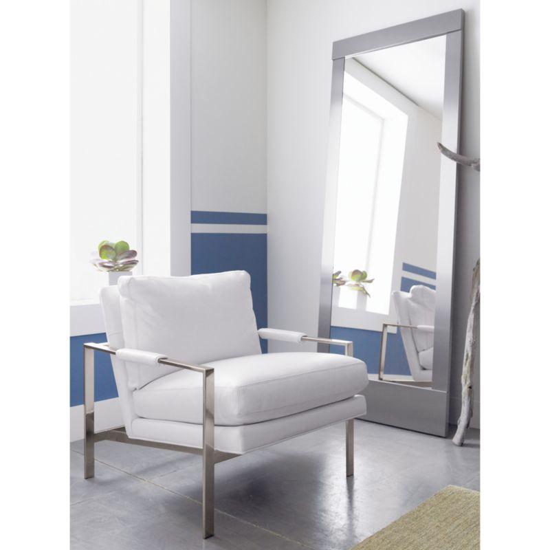Colby Nickel Floor Mirror   Floor mirror and Products