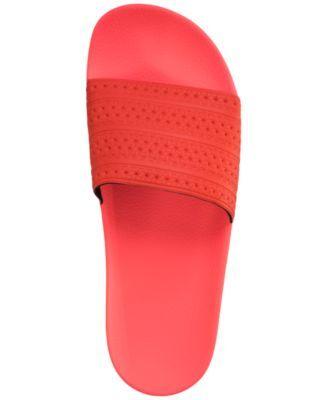 e26fcb8443d4 adidas Men s Adilette Slide Sandals from Finish Line - Red 11 ...