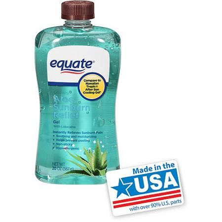 Equate Aloe Vera Cooling Gel 20 Oz Repels Mosquitoes Aloe For Sunburn Sunburn Relief Aloe Gel