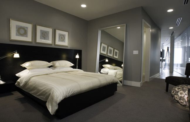 Awesome innovative masculine bedroom designs black gray - Grey and white room ideas ...