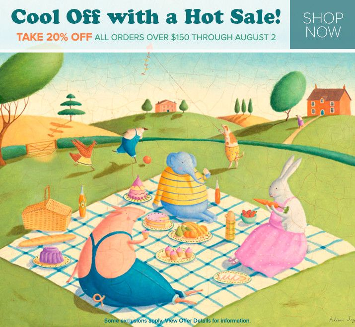 Kids Wall Art Sale! Save 20% on orders over $150 + FREE shipping ...