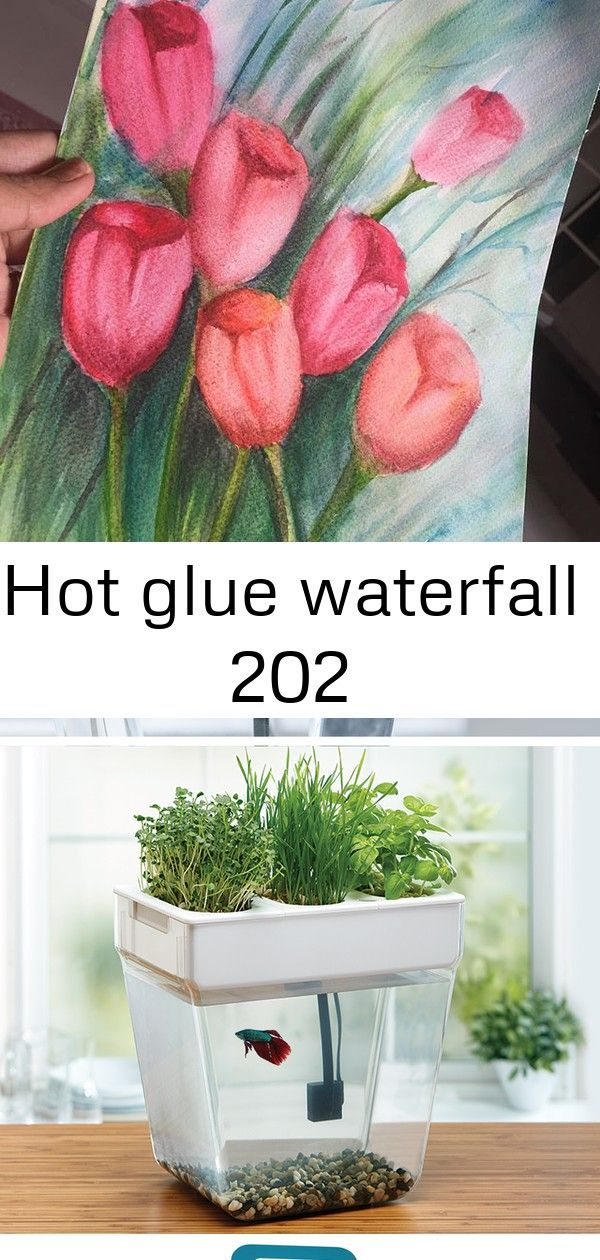 Hot glue waterfall 202 Got a chance to paint something after 2 weeks ? hope you like it! This home aquaponics fish tank cleans itself and grows organic sprouts and herbs! Bildtitel Grow Moss Step 4 Check out Bee Terrarium from Terrain