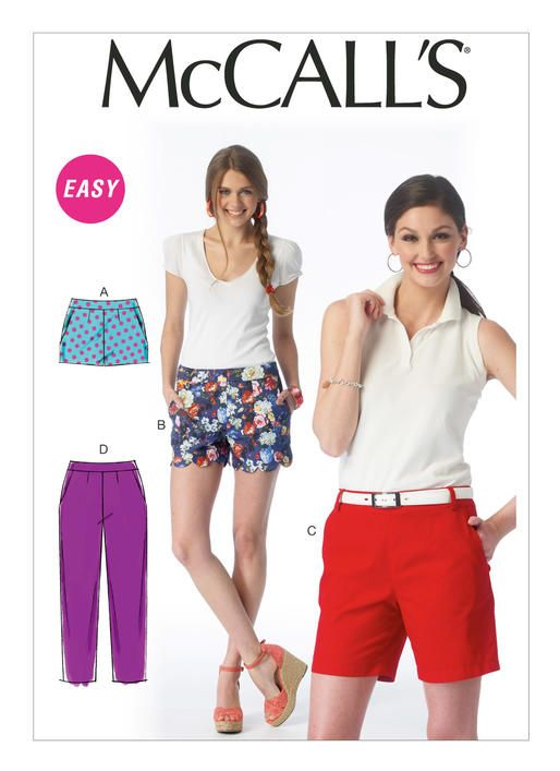 Shorts /& Pants  16 to 26     Sewing Pattern Tunic McCall/'s 6849 Misses/' Tops
