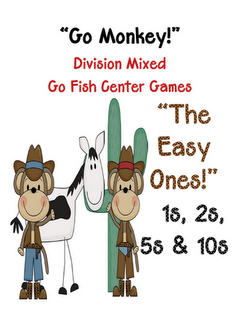 Fern Smith's Classroom Ideas!: Go Fish Game! Go Monkey! The Easy Division Facts!