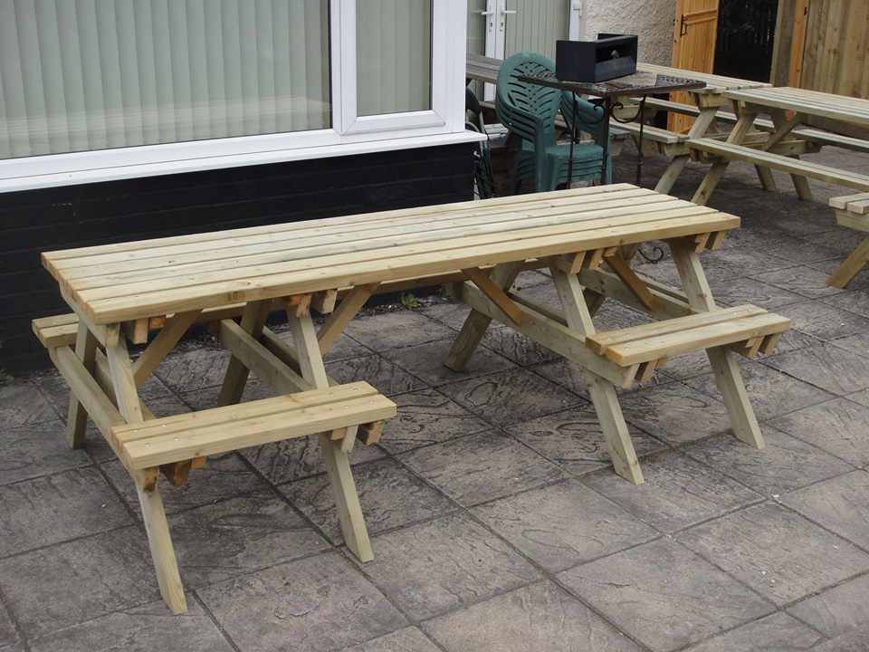 Wheelchair accessible picnic table seating adaptive for Wheelchair accessible picnic table plans