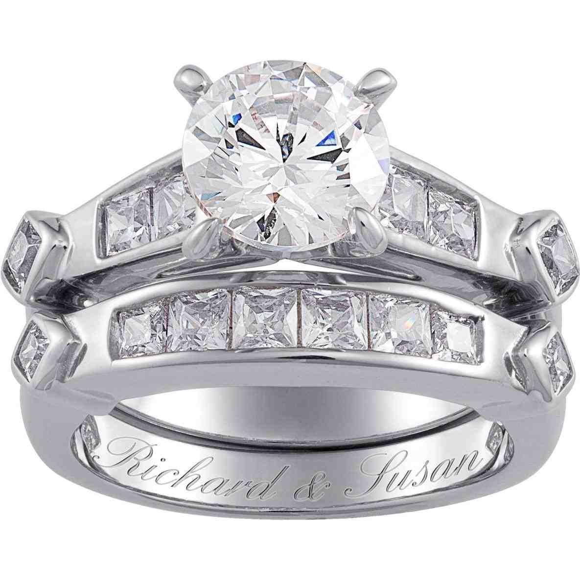 silicone wedding bands walmart Cz wedding ring sets