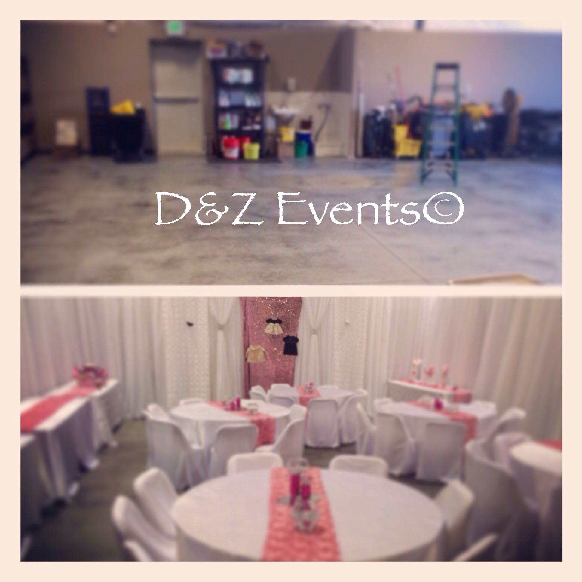 Garage Decorated For Party: Before And After Baby Shower By D&Z Events