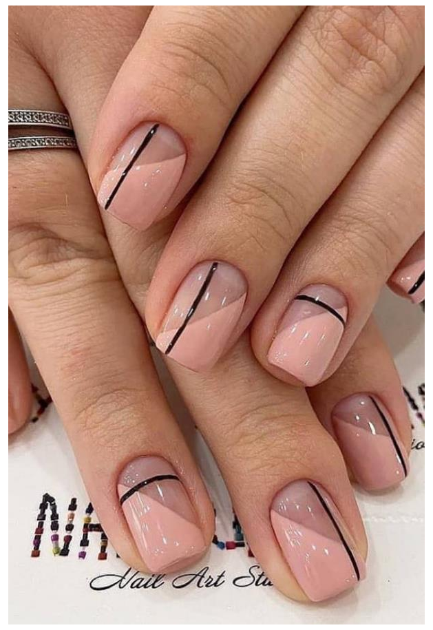 short french nails design