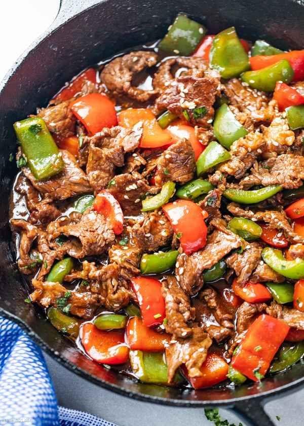 15-Minute Pepper Steak Stir-Fry in 2020 | Pepper steak ...