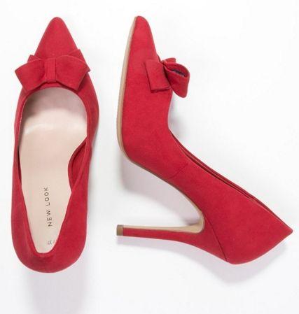 New Look Wrap Szpilki Czerwone Z Kokarda Red Fashyou Pl Heels Shoes Pumps
