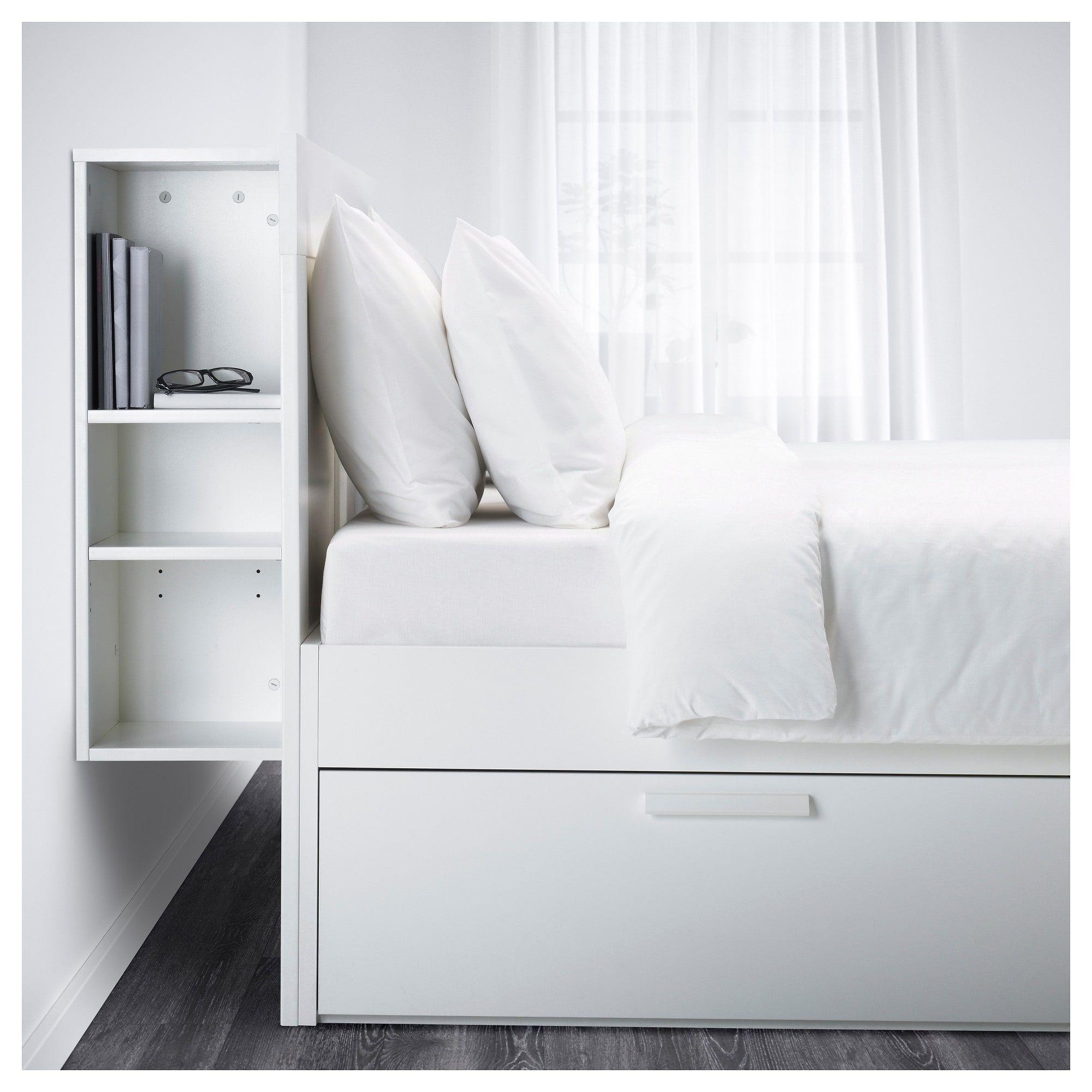 Ikea Queen Bed Frame W Storage Headboard Ikea Queen Bed Frame