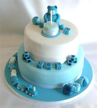 Blue Teddy And Toys Birthday Cake From Sugarlicious Ltd Teddy - Blue cake birthday