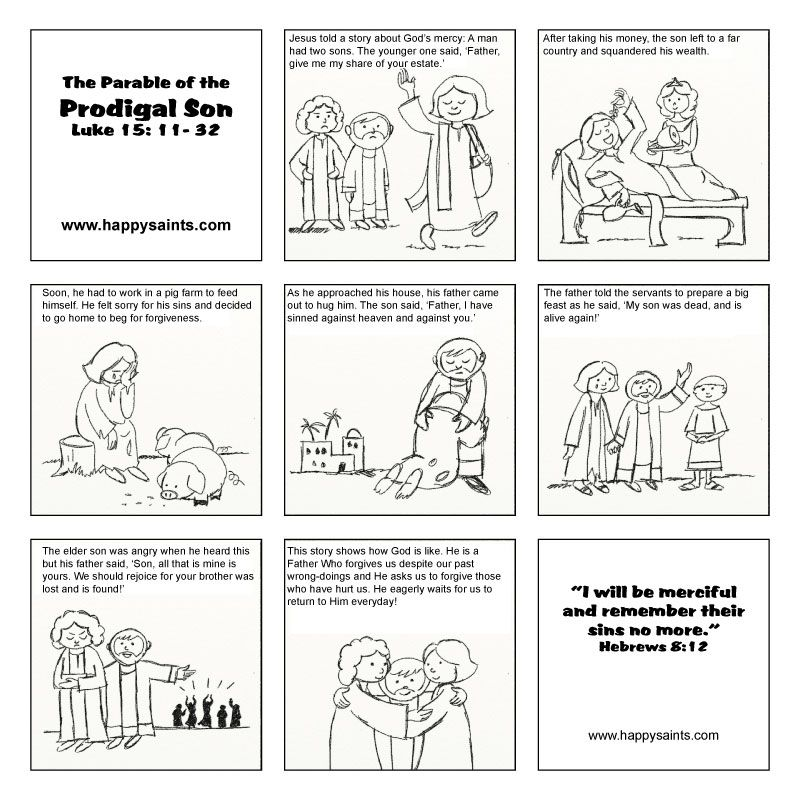 The lost son parable | Teaching Resources: Bible Lessons | Pinterest ...