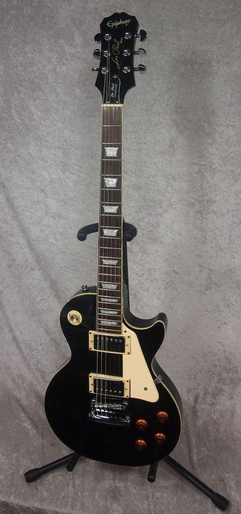 Epiphone Les Paul Standard Electric Guitar In Black Finish Epiphone