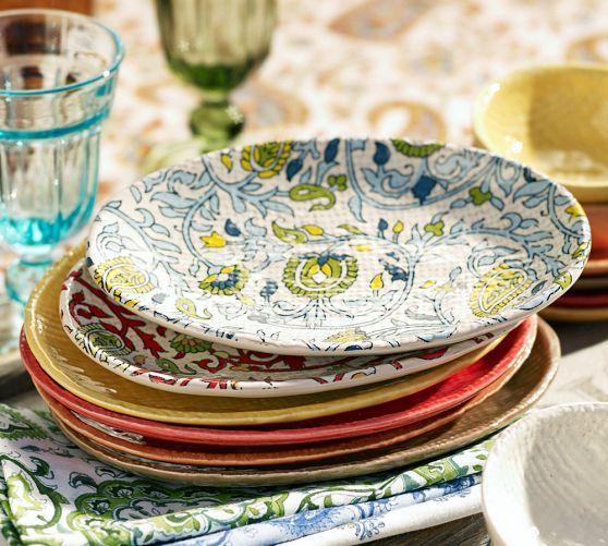 Block-Print Oval Tapas Plate Set of 4 & potterybarn | love it. | Pinterest | Block prints Tapas and Salad ...