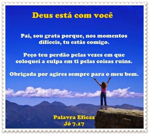 Promessas para hoje: Deus está com você-Jó 7.17