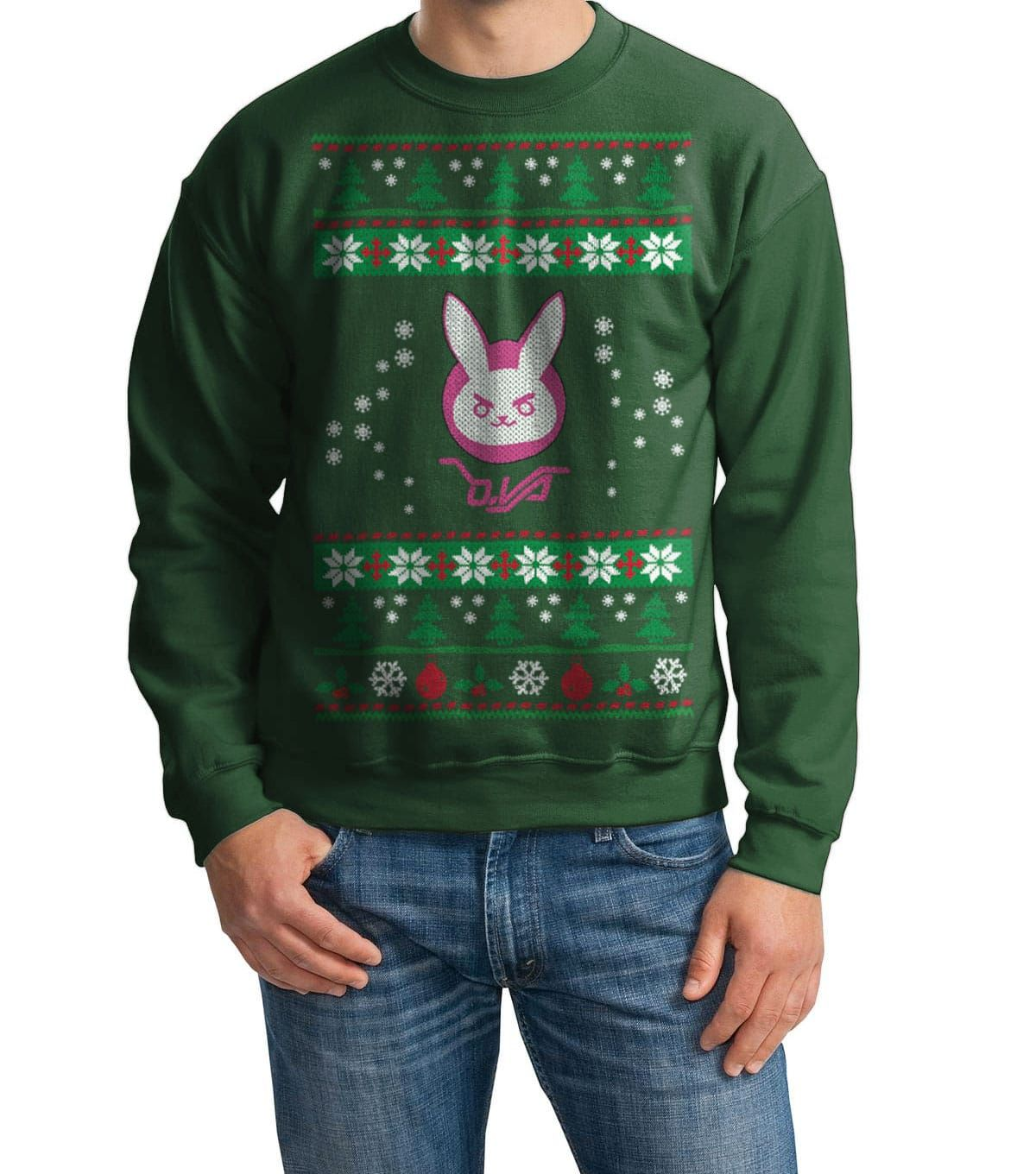 Overwatch Dva Bunny Spray Ugly Sweater For Christmas The