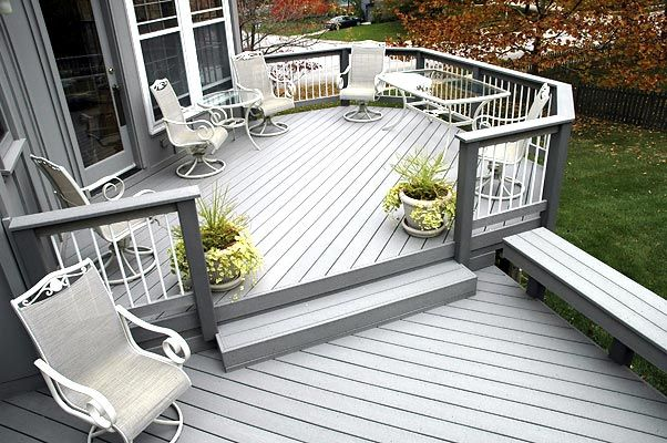 Deck Design Ideas Gray Trex Wood Or Composite Top Five