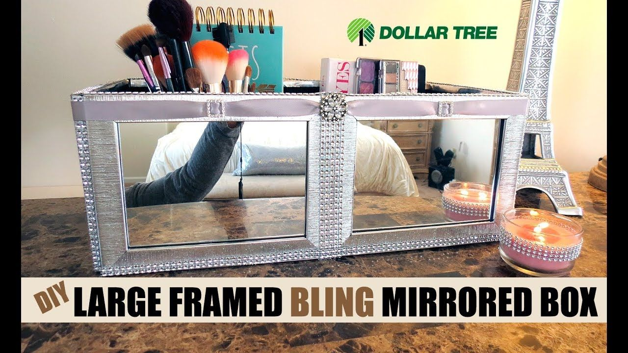 Diy Dollar Tree Beautiful Mirrored Framed Beauty Organizer