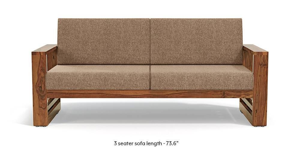 Parsons Wooden Sofa Teak Finish Safari Brown Wooden Sofa Wooden Sofa Set Wooden Sofa Designs