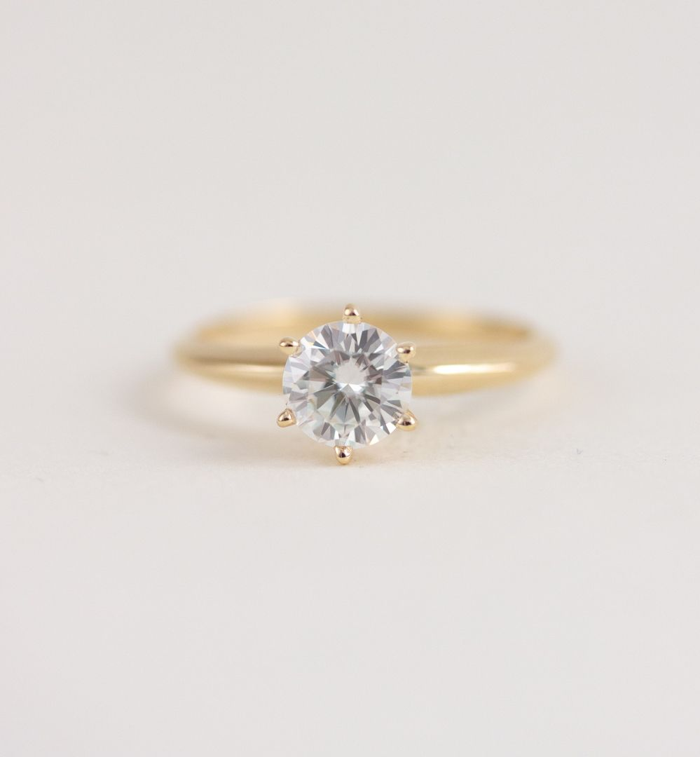 The Kate Ring In 2020 Modern Engagement Rings Yellow Gold Engagement Yellow Gold Engagement Rings