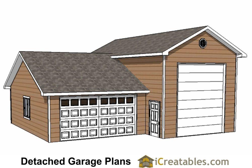 34x38 RV Garage Plans With 2 Car Garage Rv garage plans