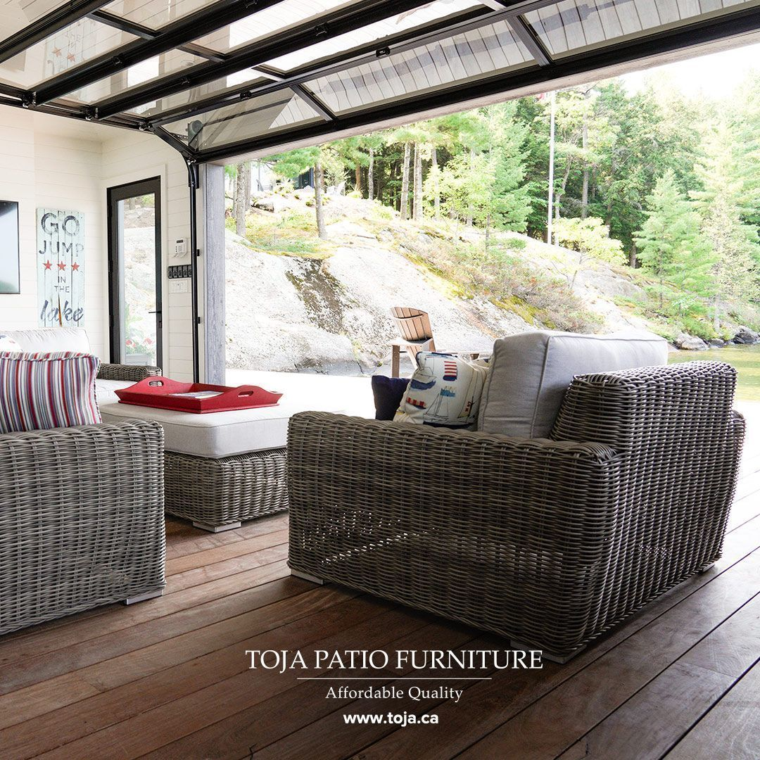 Our Turo Sofa Set With A Driftwood Rattan Finish Cast Silver Cushions Positioned With An Ex Rattan Patio Furniture Outdoor Furniture Design Indoor Furniture
