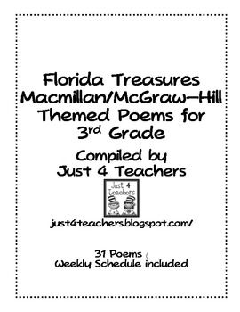 3rd Grade Poetry Journal-Correlates with Treasures