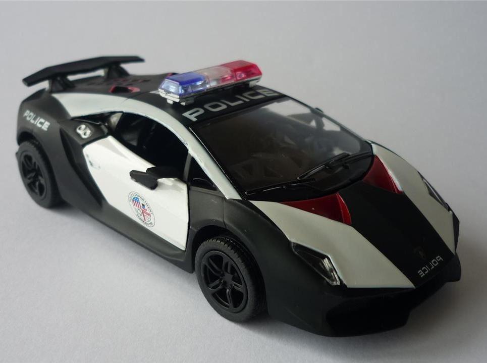 Police Car Lamborghini Sesto Elemento 1:38 Boys Diecast Toy Car Model  Present