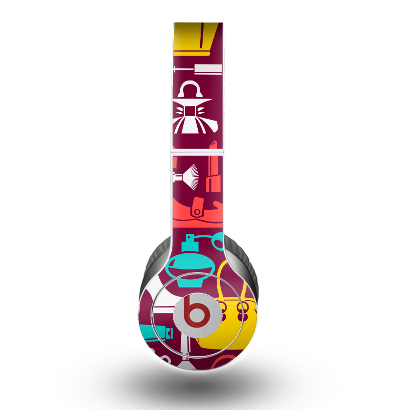The Vibrant Burgundy Vector Shopping Skin for the Beats by Dre Original Solo-Solo HD Headphones