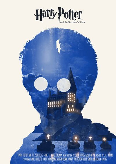 Harry Potter And The Sorcerer S Stone Poster The Lights From Hogwarts Makes Him Look Like He S Got A S Harry Potter Poster Harry Potter Art Harry Potter