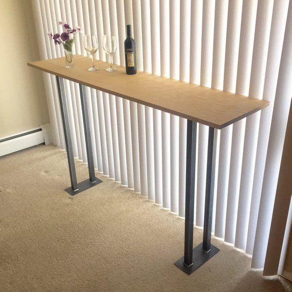 Design Counter Height Bar Steel Legs Modern Bar Height Steel Legs Set Of 2 Steel Legs Products In 2019 Dining Table Legs Table Counter Height Table