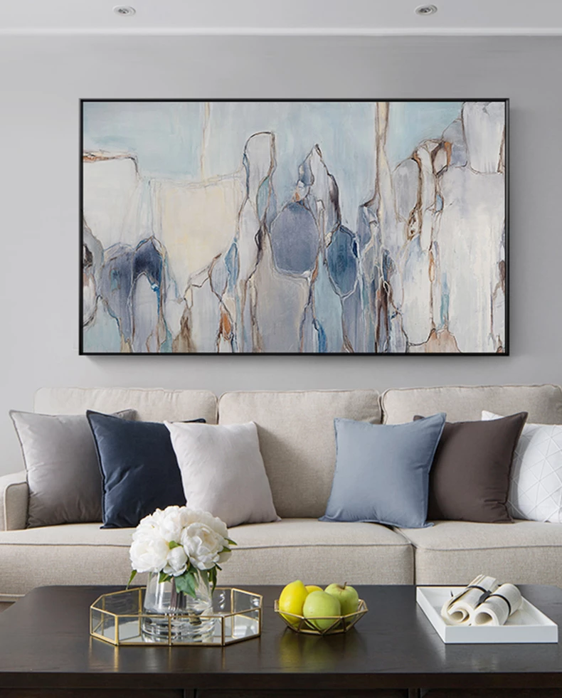 Modern Abstract Living Room Wall Art Vintage Subdued Palette Nordic Living Room Decor In 2021 Wall Art Living Room Contemporary Living Room Art Modern Abstract Wall Art