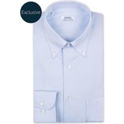 Photo of Barba Napoli Slim Fit Oxford Hemd mit Knöpfen unten Hellblau Barba