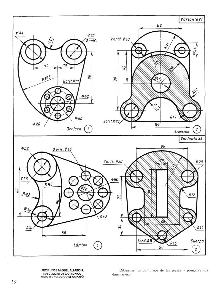 Arco Y Tangencias Geometric Drawing Technical Drawing Autocad Drawing